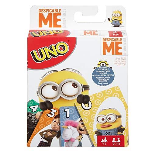 Juegos Mattel- Minions Disney Juego UNO Cartas MI Villano Favorito, Multicolor (FDV57)