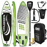 RE:SPORT SUP Board Set aufblasbar 305/320/366/380cm | Stand Up Paddle Board mit Zubehör | Paddling Surfbrett | Surfboard für Einsteiger & Fortgeschrittene (Grün, 320cm)