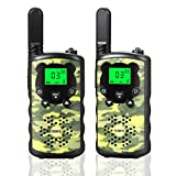Toys for 3-12 Year Old Boys, Toys for Boys Kids Toys Age 4-12 3 Miles Range Kids Walkie Talkies Toys for Birthday, Indoor Outdoor Activities(Camo Green)