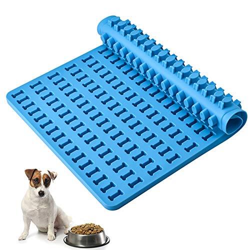 Emeno Moldes de silicona para hornear golosinas de perro y pescado, antiadherentes, para hacer cubitos de hielo, galletas y dulces.