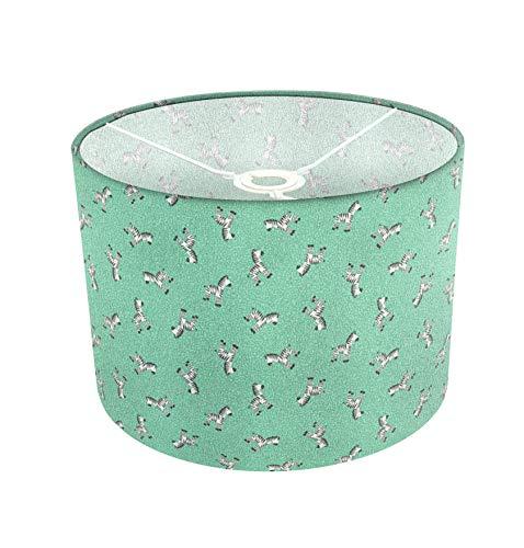 Grüner Zebradruck Kinderlampenschirm Blaugrün