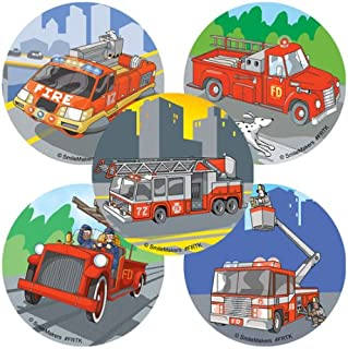 SmileMakers Fire Trucks Stickers - Prizes 100 per Pack