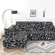Housse de canapé Extensible Housse de canapé entièrement enveloppé Housse de canapé en L Housse de canapé de Style Simple ...