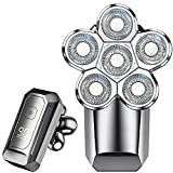 Head Shaver, 5-in-1 Shaver for Bald Men with LED Display, Versatile 6D Floating, Waterproof Design for Hair, Beards, Nasal Hair, and Facial Cleansing
