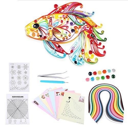 6 In 1 DIY Quilled Kreation Papier Handwerk Quilling Tools Kit Sammlung Für Dekoration Pädagogisches Spaß Weihnachtsgeschenk