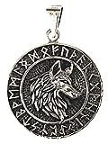 Kiss of Leather Colgante de cabeza de lobo de plata de ley 925 nº 352