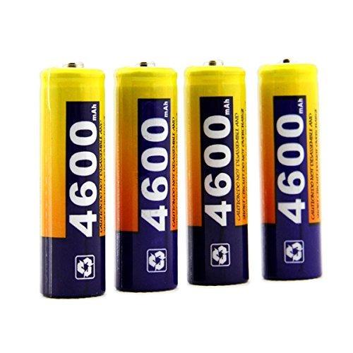 AA Batteria Ricaricabile, OSAN 4Pz 2A Batterie NI-MH 4600mAh 1.2V 2A Ricaricabile Alta Capacita'