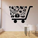Dongwall Adhesivo de Pared Personalizado Eco ecológico Tienda de Fruta Saludable supermercado decoración Interior Vinilo Ventana Pegatina Arte Creativo Pared 57x79cm