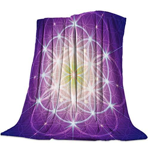 Cllym Fleur Vie de Fleur Jeter Couverture Chaude Microfibre Couverture Dessin animé couvertures pour Lits décor à la Maison