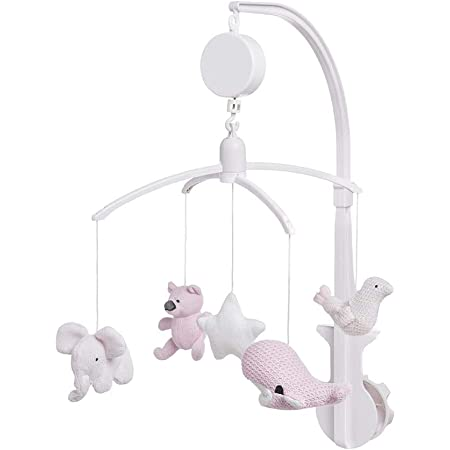 BO Baby's Only - Mobiles bébé musical - Rose très Clair/Rose/Blanc - 100% polyester
