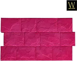 BC Cobble Concrete Stamp Single by Walttools   Decorative Compatible Cobblestone Pattern, Sturdy Polyurethane, Compatible Texturing Mat, Realistic Detail (Rigid)