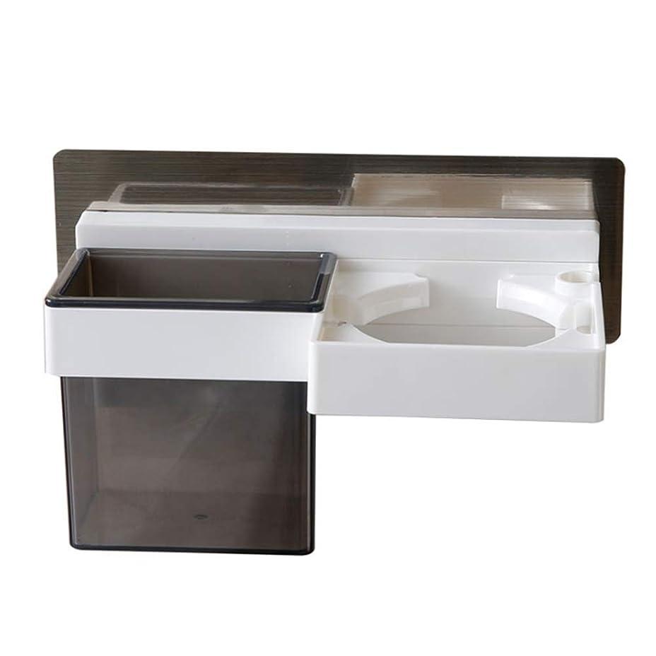 ガス失うホームサクションカップヘアドライヤーラック浴室壁掛け収納高品質プラスチック環境に安全、ウェアラブルと耐久性