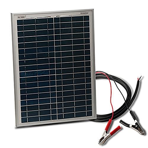 edi-tronic Solarmodul 12V 20W mit Kabel 150cm Solarpanel Solarzelle...
