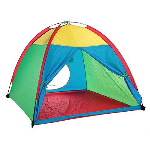 TOMSHOO Kinderzelt Spielzelt Spielhaus Zelt Kinderschloss Spielzeug Zelt