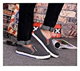 Fnho Calzado para Correr por Carretera,Zapatos de Gimnasia Zapatos Ligeros,Zapatos Casuales de Hombre con Fondo Acanalado, Zapatos de Lona-Gris_41