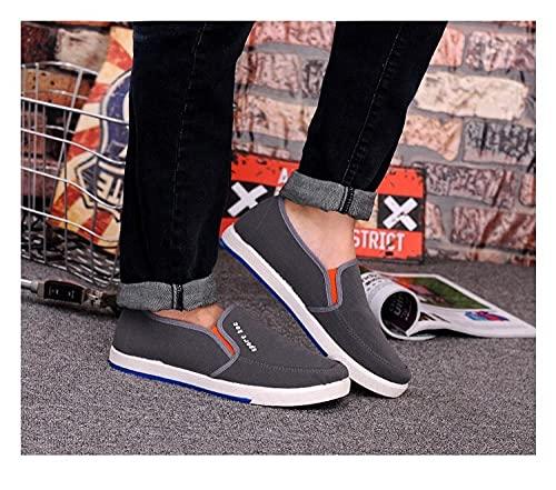 Fnho Zapatillas Deportivas para Correr,Zapatos Deportivos para Correr,Zapatos Casuales de Hombre con Fondo Acanalado, Zapatos de Lona-Gris_39
