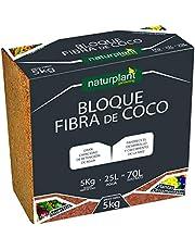 NATURPLANT COCPAST Fibra de Coco Pastilla, Marrón, 5 Kg - 1 Unidad