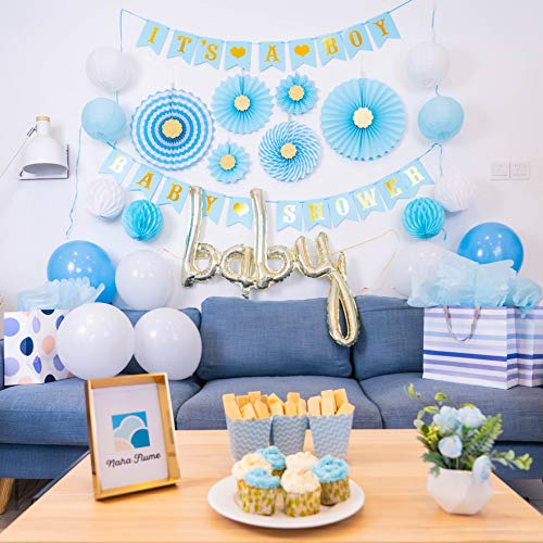 50 PCS Baby Shower Decorations for Boy Baby Shower Decorations - Baby Boy Shower Decorations | Baby Boy Baby Shower Decorations Boy Its a Boy Decorations for Baby Shower Boy Babyshower Decoration Kit