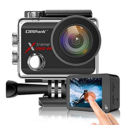 Campark X30 Action Camera Native 4K 60fps 20MP WiFi with EIS Touch Screen Waterproof Camera 40M, 2x1350mAh Batteries and Professional Accessories Compatible with gopro from Campark
