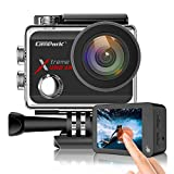 Campark X30 Action Camera Native 4K 60fps 20MP WiFi with EIS Touch Screen Waterproof Camera 40M, 2x1350mAh Batteries and Professional Accessories