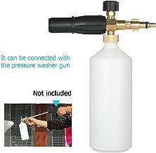 Maslin 1L Foam Lance Spray Bottle with Adapter Adjustable Nozzle Injector Soap Foamer for Lavor Pressure Car Washer