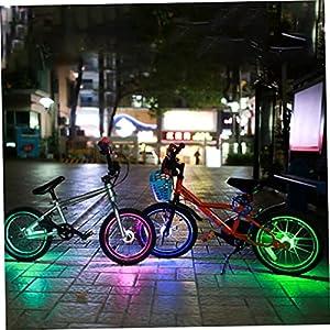 Tuimiyisou Luz De Seguridad Decoración Luz Accesorios De Bicicleta Luces Ciclismo Rueda Rueda Neumático De Seguridad Luz para Ciclismo Seguro Niños Niños Niños Niños Adultos Montaña Bicicleta