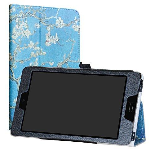 Labanema MediaPad M3 Lite 8.0 Hülle, Slim Fit Folio PU Leder dünne Kunstleder Schutzhülle Cover Schale Etui Tasche für Huawei MediaPad M3 Lite 8.0 Zoll Tablet - Almond Blossom