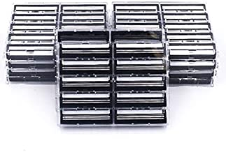 100 Taconic Shave Twin Blade Razor Cartridges with Lubricating Strip - Compatible with All Gillette Trac 2 and Gillette Atra Razor Handles - Made in The USA