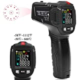 Infrared Thermometer, Jenabom Laser Digital Non-Contact IR Temperature Gun (-50℃to 660℃) with LCD