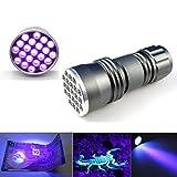 kashyk UV Taschenlampe, UV Taschenlampe LED Handlampe Schwarzlicht aus Alulegierung, für Haustiere Urin-Detektor, Flecken-Detektor