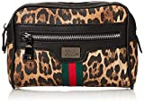 XTI 86135, Bolso bandolera para Mujer, Marrón (Leopardo), 18x13x3 cm (W x H x L)
