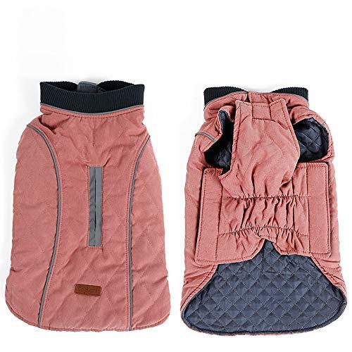 Hundemantel Winter Warme Jacke Weste, 7 Größen für Kleine Mittlere Große und Riesige Hunde, Winddicht Schneeanzug Hundekleidung Outfit Weste Haustiere Bekleidung (XS, ROSA)
