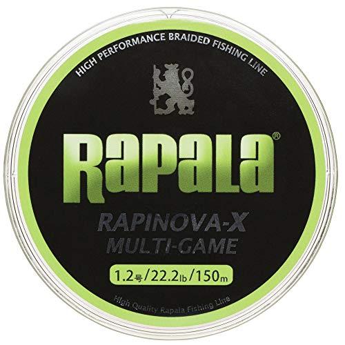 ラパラ PEライン ラピノヴァX マルチゲーム 150m 1.号 .lb 4本 ライムグリーン RLX150M1LG