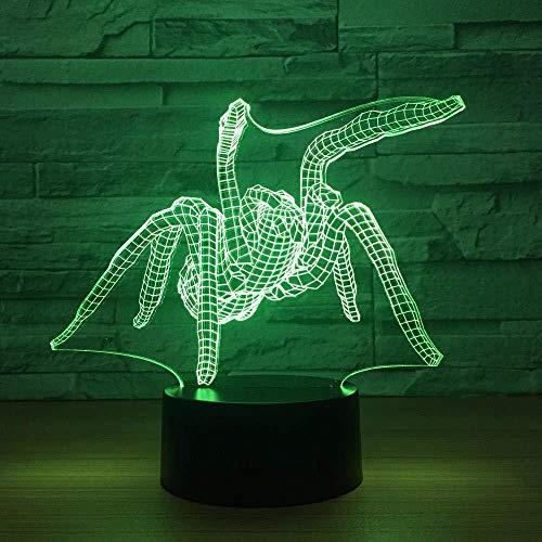 Acryl bedlampje, nachtlampje, touch-bediening, nachtlampje, illusie, 16 kleuren, nachtlampje, 3D-nachtlampje, led-optische illusie, lamp, 16 kleuren, wijzigen, touch-bureaulamp voor kinderen, verjaardag, wijnen