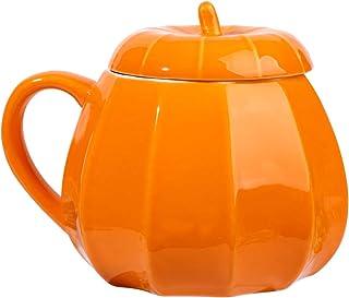 DOITOOL Tasse a Cafe Design Céramique Pour Mug Halloween Citrouille Halloween Motif Avec Un Couvercle