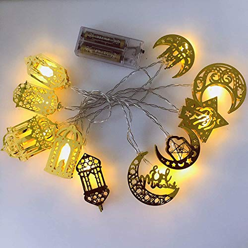 Ramadan Eid String Light Star Party Lights for Eid Festival Christmas Bedroom Garden Decorations (Combination)