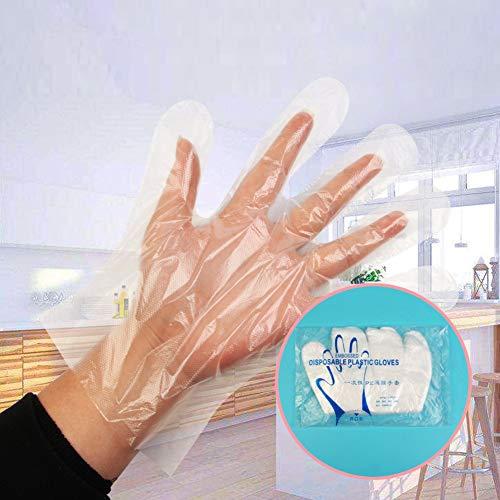 TOHHOT Transparante wegwerphandschoenen voor kinderen, dikken, verlengen unieke handschoenen voor restaurant, BBQ, keukenaccessoires