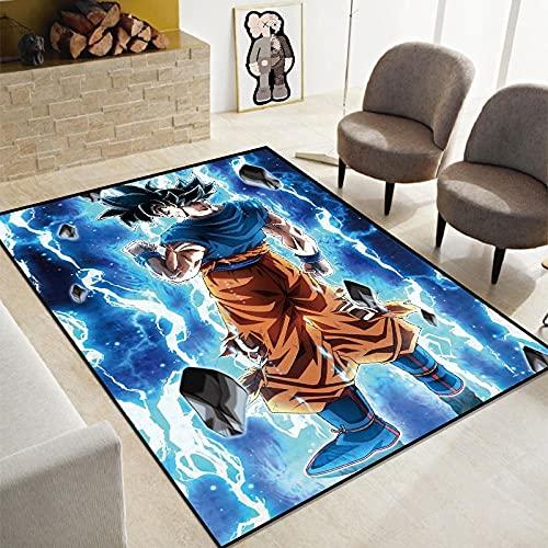 HoodieBBQ 3D Alfombrilla de Dragon Ball Z, Alfombra de Anime de Goku, Almohadilla de cabecera de Super Saiyan, alfombras de área de decoración del hogar de Hada Tortuga-120X160CM-A_140x200cm