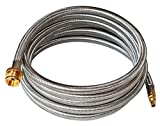 DOZYANT 12 Feet 1/4' Quick Connect RV Stainless Steel Braided Propane Hose Converter Replacement for 1 lb Throwaway Bottle Connects 1 LB Bulk Portable Appliance to RV 1/4' Female Quick Disconnect