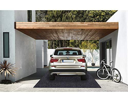 Garage Floor Mat,Absorbent Fabric,Anti-slip and Waterproof Backing,Washable,Garage and Shop Parking Mats(16.7 Feet x 6.7 Feet)