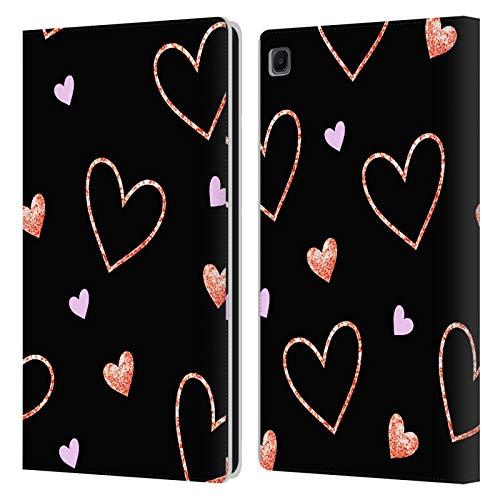 Head Case Designs Ufficiale Haroulita Cuori Modelli 2 Cover in Pelle a Portafoglio Compatibile con Samsung Galaxy Tab S6 Lite