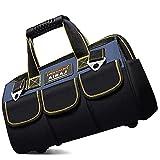 AIRAJ Werkzeugtasche,33×21×25cm,Faltbare Werkzeugtasche mit Innentasche zur Aufbewahrung von Werkzeugen,Gummipolster unten,Geeignet für Haushalt,Zimmerei,Werkzeugkoffer für Elektriker