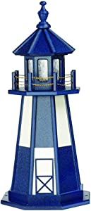 DutchCrafters Decorative Lighthouse - Poly, Cape Henry Style (Patriot Blue/White, 2)