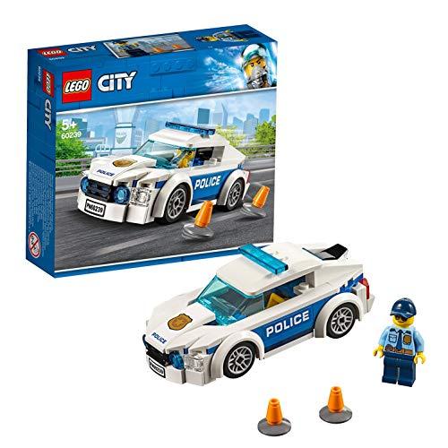 LEGO 60239 City Polizei Streifenwagen, Spielzeugauto mit Polizisten-Minifigur, Verfolgungsjagd Sets für Kinder
