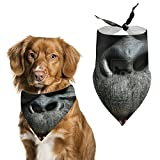 シルバーバックゴリラ 猩猩 犬用バンダナトライアングルビブスカーフ調節可能なペットバンダナアクセサリー犬猫ペット動物
