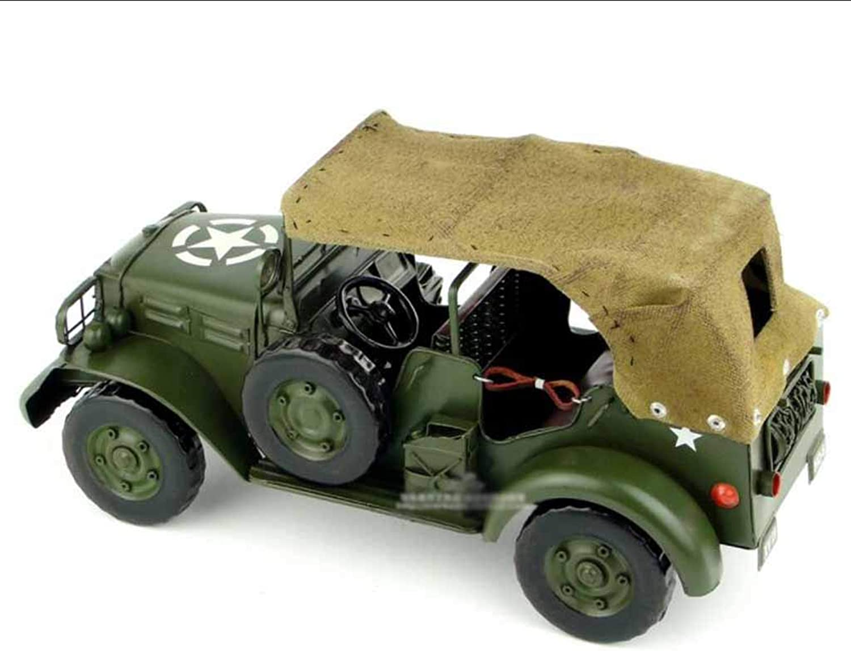 mas barato WZLDP 1942 1942 1942 Segunda Guerra Mundial Ejército de los EE. UU. Modelo de Dodge Jeep verde del ejército   Decoración hecha a mano modelo de coche de hojalata vintage   Niño juguete modelo   Colección de jug  100% garantía genuina de contador