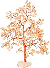 YATHABI Citrine Copper Wire Tree with Quartz Rock Stone Handmade Gemstone Tree Feng Shui Bonsai for Attracting Positive Energies Crystal Healing Chakra Cleansing & Home Decor Size 10 Inch Approx