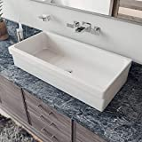 ALFI brand AB36TR Bathroom Trough Sinks, 36', White