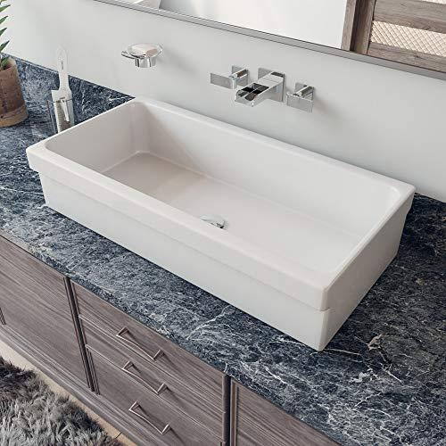 ALFI brand AB36TR Bathroom Trough Sinks, 36