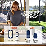 Husqvarna Automower 315X Robotic Lawn Mower 15 Maintain a yard the neighbors will envy with the touch of a button or the Command of your voice; Smart home meets smart lawn with Automower 315x Manage your mower's cutting schedule and track it's exact location with the Automower Connect app and start or stop your mower quickly via voice command using your Alexa or Google Home device Guided by hidden Boundary wires, Automower knows how to smartly maneuver around your yard and when it is time to return to the charging station for a battery recharge